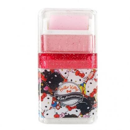 小禮堂 Hello Kitty 橡皮擦 滾輪式 擦布 學童文具 (紅 變裝)