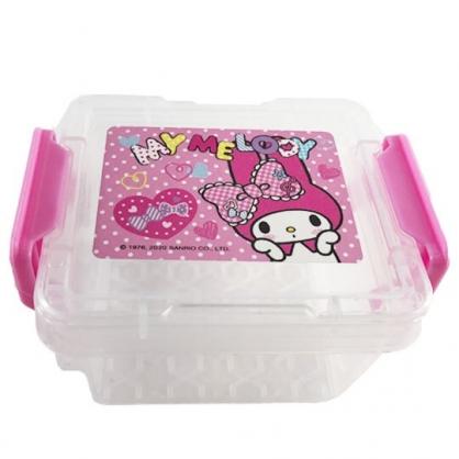 小禮堂 美樂蒂 迷你 收納盒 雙扣 方形塑膠 置物盒 飾品盒 文具盒 (粉 愛心)