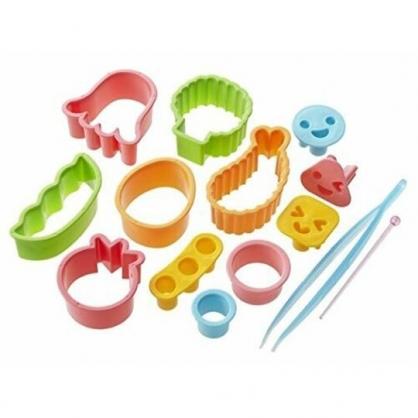 小禮堂 日本TORUNE 日製 蔬菜壓模 便當模具 料理模具 押花 模型 (綠橘)