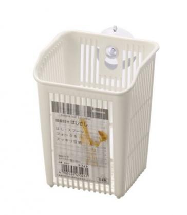 小禮堂 日本INOMATA 日製 餐具架 塑膠 瀝水架 置物架 收納架 吸盤式 (白)