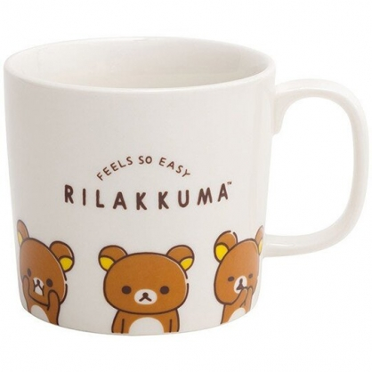 小禮堂 懶懶熊 馬克杯 陶瓷杯 寬口杯 咖啡杯 茶杯 水杯 (白 多表情)