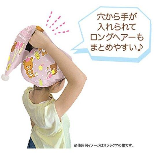 小禮堂 角落生物 鬆緊浴帽 三角 擦髮巾 快乾浴帽 護髮帽 吸水巾 毛巾 純棉 割絨 (藍粉 貝殼)