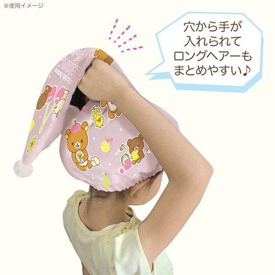 小禮堂 角落生物 鬆緊浴帽 三角 擦髮巾 快乾浴帽 護髮帽 吸水巾 毛巾 純棉 割絨 (粉 草莓)