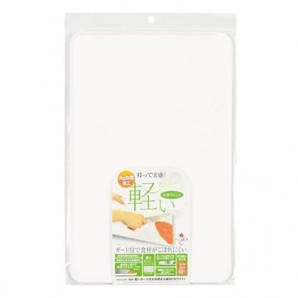 小禮堂 日本PEARL 塑膠砧板 方形 菜砧 切菜板 輕量型 抗菌加工 (白)