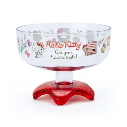 小禮堂 Hello Kitty 日製 冰淇淋杯 塑膠杯 矮腳杯 聖代杯 派對杯 飲料杯 310ml (紅 2020新生活)