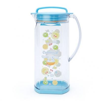 小禮堂 大耳狗 日製 冷水壺 單耳 塑膠 茶壺 飲料壺 可橫放 1.2L (藍 2020新生活)