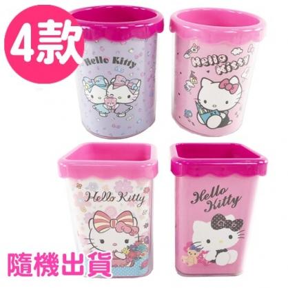 小禮堂 Hello Kitty 筆筒 塑膠 收納筒 刷具筒 置物筒 文具收納  (4款隨機)