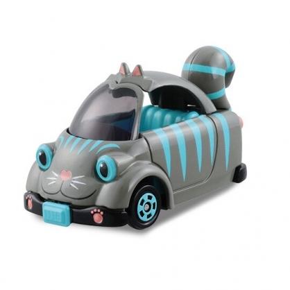 小禮堂 迪士尼 愛麗絲 魔鏡夢遊 柴郡貓 造型車 玩具車 模型 兒童玩具 (灰綠)