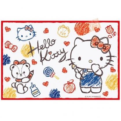 小禮堂 Hello Kitty 野餐墊 單人 海灘墊 防水墊 防潮地墊 60x90cm (紅白 塗鴉)
