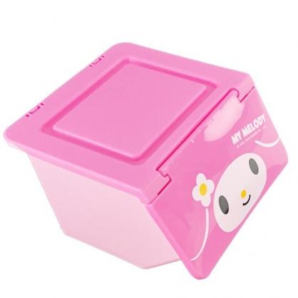 小禮堂 美樂蒂 迷你 收納盒 塑膠 前開式  置物盒 文具盒 飾品盒 小物收納 可堆疊 (粉 大臉)