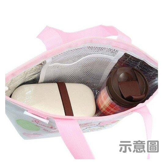 小禮堂 角落生物 便當袋 尼龍 手提袋 保冷袋 野餐袋 (粉白 冰淇淋)