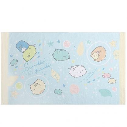 小禮堂 角落生物 浴巾 毛巾 純棉 割絨 75x130cm (藍黃 海底)