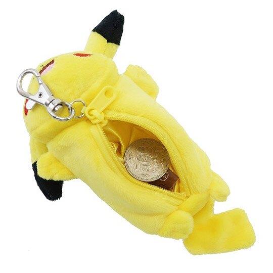 小禮堂 神奇寶貝 寶可夢 零錢包 絨毛 收納包 小物包 吊飾 掛飾 (黃 趴姿)