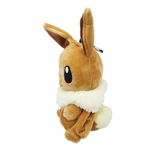 小禮堂 神奇寶貝 寶可夢 伊布 玩偶收納包 零錢包 小物包 娃娃 布偶 吊飾 掛飾 (棕)