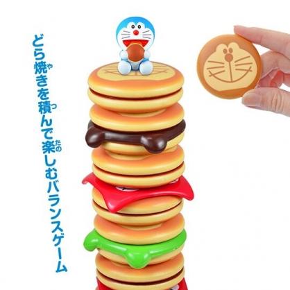 小禮堂 哆啦A夢 疊疊樂玩具 益智玩具 兒童玩具 桌遊 銅鑼燒造型 (藍棕)