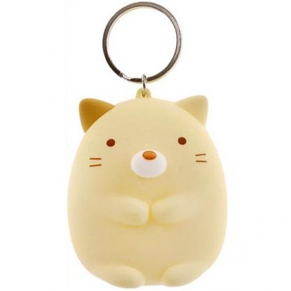 小禮堂 角落生物 零錢包 矽膠 收納包 小物包 鑰匙圈 鎖圈 吊飾 掛飾 (黃 貓咪)