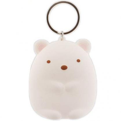 小禮堂 角落生物 零錢包 矽膠 收納包 小物包 鑰匙圈 鎖圈 吊飾 掛飾 (白 北極熊)