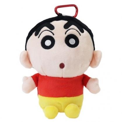 小禮堂 蠟筆小新 玩偶收納包 零錢包 小物包 娃娃 布偶 吊飾 掛飾 (紅黃)