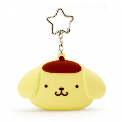 小禮堂 布丁狗 零錢包 矽膠 收納包 小物包 耳機包 吊飾 掛飾 大臉造型 (黃)