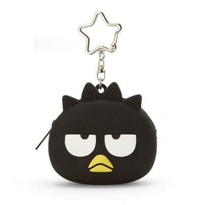 小禮堂 酷企鵝 零錢包 矽膠 收納包 小物包 耳機包 吊飾 掛飾 大臉造型 (黑)