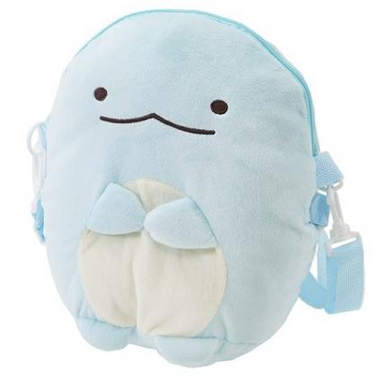 小禮堂 角落生物 斜背包 造型背包 肩背包 側背包 行李拉桿包 絨毛玩偶 (藍 恐龍)