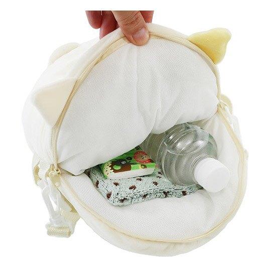 小禮堂 角落生物 斜背包 造型背包 肩背包 側背包 行李拉桿包 絨毛玩偶 (米 貓咪)