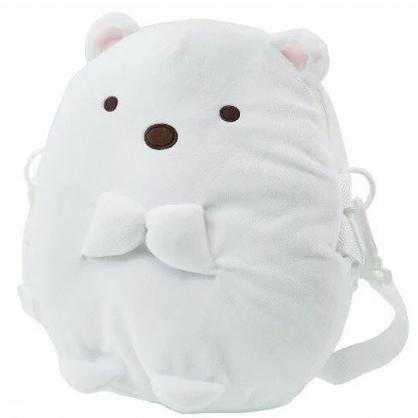 小禮堂 角落生物 斜背包 造型背包 肩背包 側背包 行李拉桿包 絨毛玩偶 (白 北極熊)