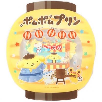 小禮堂 布丁狗 日製 和紙貼紙 手帳貼紙 裝飾貼紙 卡片裝飾 燈籠造型夾鏈袋 (黃)