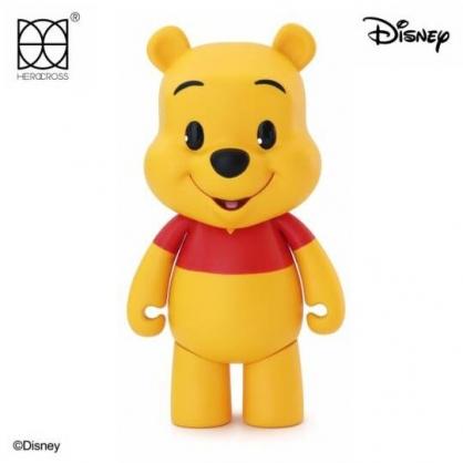 小禮堂 迪士尼 小熊維尼 HEROCROSS 塑膠公仔 動動娃娃 玩偶 娃娃 (黃 CFS#001)
