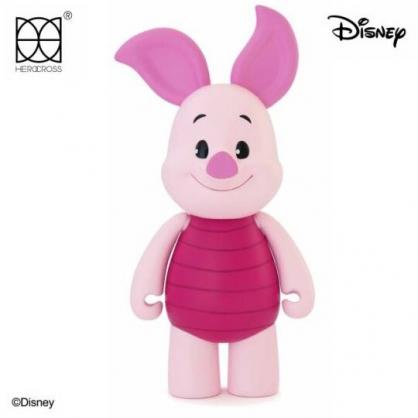 小禮堂 迪士尼 小熊維尼 小豬 HEROCROSS 塑膠公仔 動動娃娃 玩偶 娃娃 (粉 CFS#002)