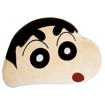 小禮堂 蠟筆小新 抱枕 絨毛 靠墊 午睡枕 枕頭 玩偶 娃娃 大臉造型 (米)