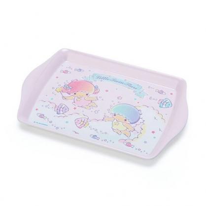 小禮堂 雙子星 迷你 美耐皿托盤 方盤 塑膠盤 餅乾盤 置物盤 (粉 2020新生活)