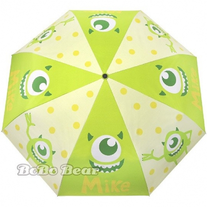 小禮堂 迪士尼 怪獸大學 自動傘 折疊傘 雨陽傘 遮陽傘 折傘 雨具 加大型 (綠 大眼怪)