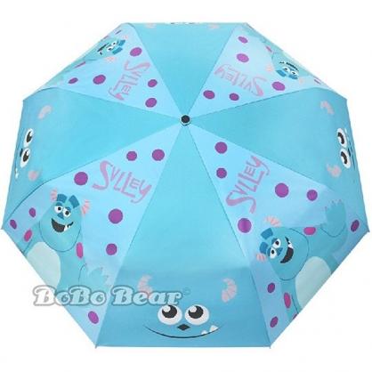 小禮堂 迪士尼 怪獸大學 自動傘 折疊傘 雨陽傘 遮陽傘 折傘 雨具 加大型 (藍 毛怪)