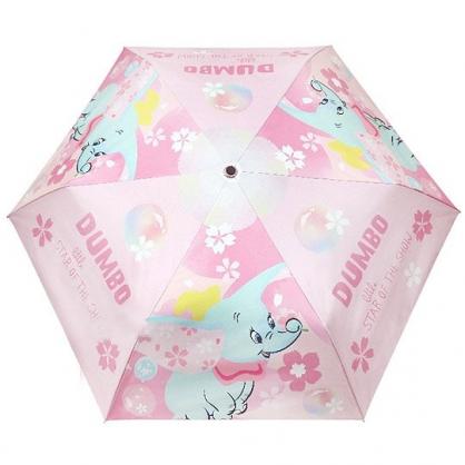 小禮堂 迪士尼 小飛象 折疊傘 雨陽傘 遮陽傘 折傘 雨具 雨傘 (粉藍 櫻花)