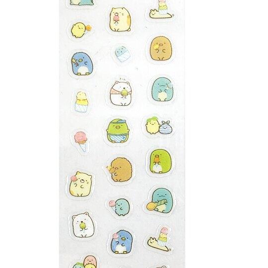 小禮堂 角落生物 彩繪指甲貼 美甲貼紙 DIY美甲 卡通指甲貼 (黃 冰淇淋)