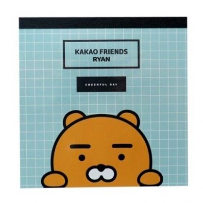 小禮堂 KAKAO Friends 萊恩 日製 迷你 便條本 留言紙 信紙 便條紙 (綠 大臉)