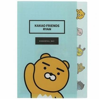 小禮堂 KAKAO Friends 萊恩 日製 資料夾 A4 分類文件夾 檔案夾 L夾 (綠 招手)