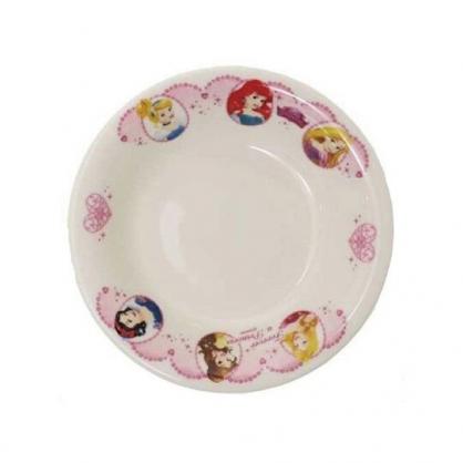 小禮堂 迪士尼 公主 日製 陶瓷碗 飯碗 湯碗 兒童碗 金正陶器 (白粉 大臉)
