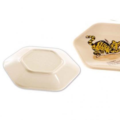 小禮堂 迪士尼 小熊維尼 日製 迷你 美耐皿盤 六角形 醬料盤 小菜盤 塑膠盤 (4入 米 素描)