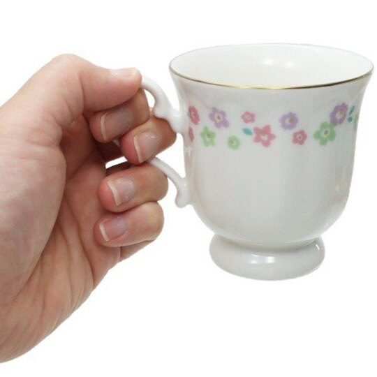 小禮堂 史努比 日製 馬克杯 陶瓷杯 咖啡杯 茶杯 金正陶器 (白 花朵)