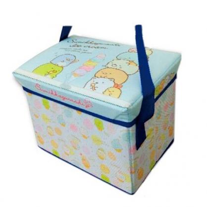 小禮堂 角落生物 保冷箱 尼龍 野餐籃 手提籃 保冷袋 野餐袋 可折疊 (綠 冰淇淋)