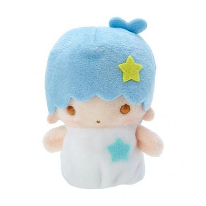 小禮堂 雙子星KIKI 手指娃娃 絨毛 玩偶 指偶 手偶 布偶 玩具 (藍白)
