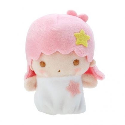 小禮堂 雙子星LALA 手指娃娃 絨毛 玩偶 指偶 手偶 布偶 玩具 (粉白)