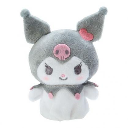 小禮堂 酷洛米 手指娃娃 絨毛 玩偶 指偶 手偶 布偶 玩具 (灰白)