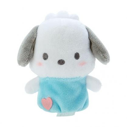 小禮堂 帕恰狗 手指娃娃 絨毛 玩偶 指偶 手偶 布偶 玩具 (藍白)