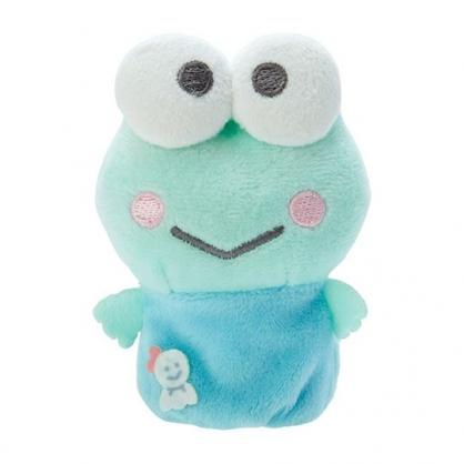 小禮堂 大眼蛙 手指娃娃 絨毛 玩偶 指偶 手偶 布偶 玩具 (綠藍)