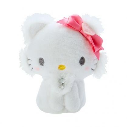 小禮堂 恰咪 手指娃娃 絨毛 玩偶 指偶 手偶 布偶 玩具 (白)