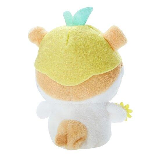 小禮堂 可樂鈴 手指娃娃 絨毛 玩偶 指偶 手偶 布偶 玩具 (黃白)