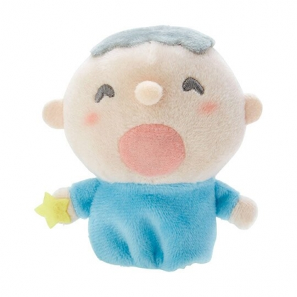 小禮堂 大寶 手指娃娃 絨毛 玩偶 指偶 手偶 布偶 玩具 (藍米)